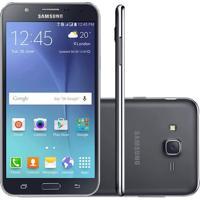 "Smartphone Samsung Galaxy J7 Duos Preto Octa Core, Tela 5.5"", 4G, Câmera 13Mp, Android 5.1"