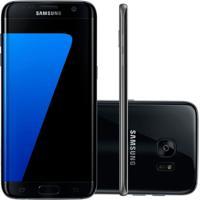 """Smartphone Samsung Galaxy S7 Edge Preto 32Gb Octa-Core Tela Curva 5.5"""" 2.3Ghz 4G Android 6.0"""