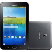 "Tablet Samsung Galaxy Tab E 7.0"" Preto 8Gb 3G Câmera 2Mp Quad Core 1Gb De Ram"