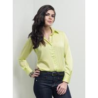 Camisa Social De Cetim Feminina Principessa Florenze