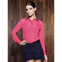 Camisa Feminina Social Pink Principessa Laiana