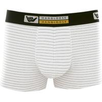 Cueca Boxer Cotton Listrada Hang Loose Branco Gg