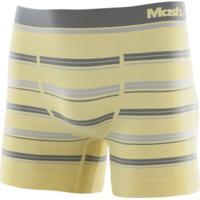 Cueca Boxer Microfibra Sem Costura Listrada Amarelo Claro G