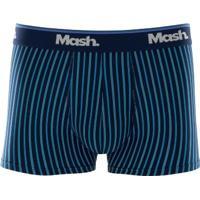 Cueca Boxer Modal Listrada Azul Marinho Gg