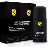 Kit Scuderia Perfume Ferrari Black Eau De Toilette 30Ml + 30Ml
